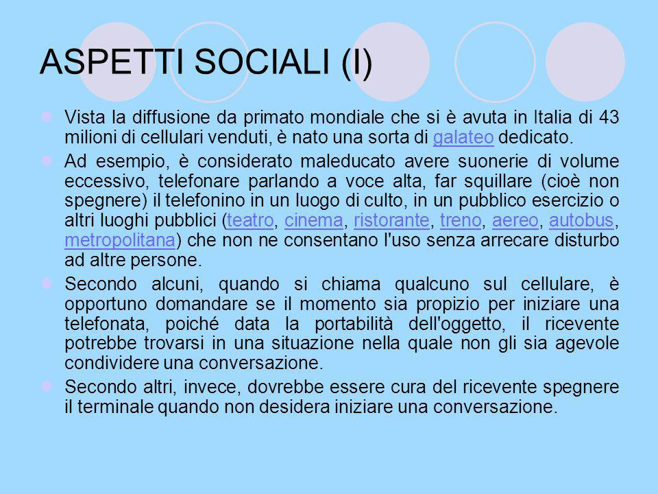 ASPETTI SOCIALI (I)