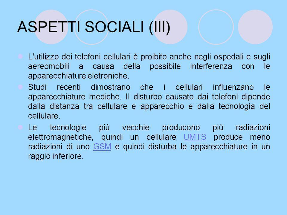 ASPETTI SOCIALI (III)
