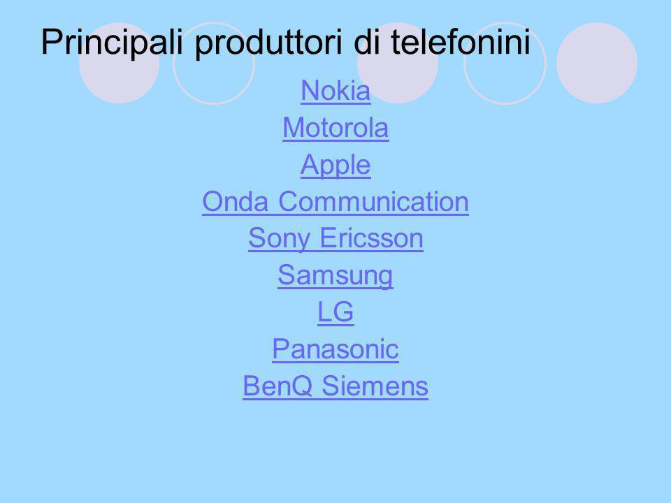 Principali produttori di telefonini