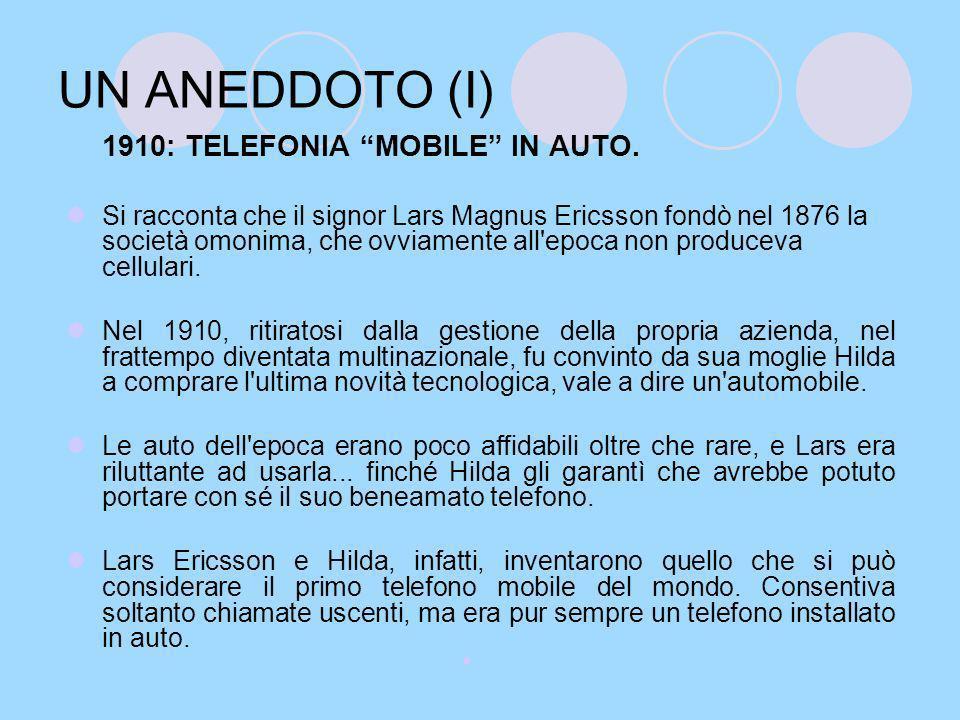 UN ANEDDOTO (I) 1910: TELEFONIA MOBILE IN AUTO.