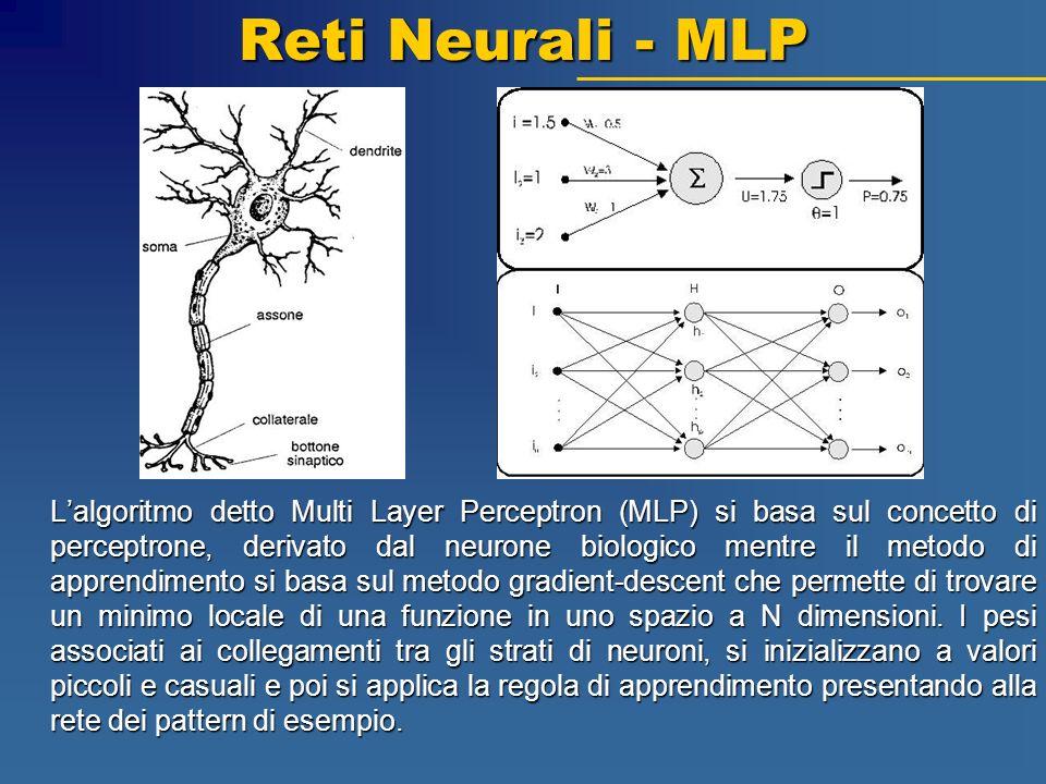 Reti Neurali - MLP