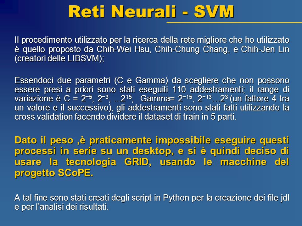 Reti Neurali - SVM