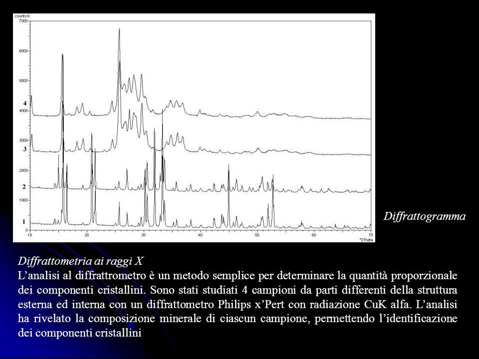 Diffrattogramma Diffrattometria ai raggi X.
