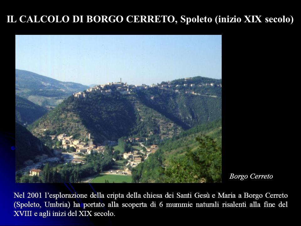 IL CALCOLO DI BORGO CERRETO, Spoleto (inizio XIX secolo)