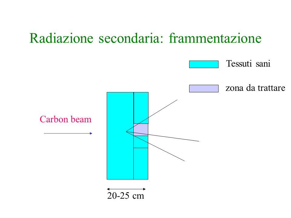 Radiazione secondaria: frammentazione