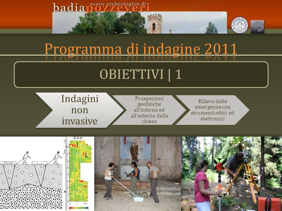 Programma di indagine 2011 OBIETTIVI | 1 Indagini non invasive