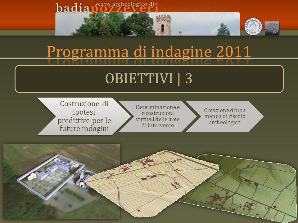 Programma di indagine 2011 OBIETTIVI | 3