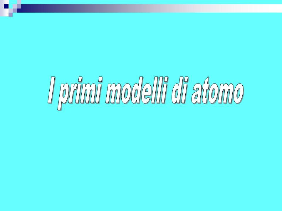 I primi modelli di atomo