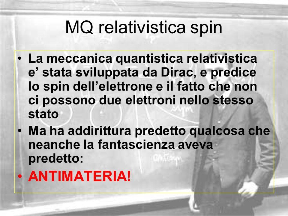 MQ relativistica spin ANTIMATERIA!