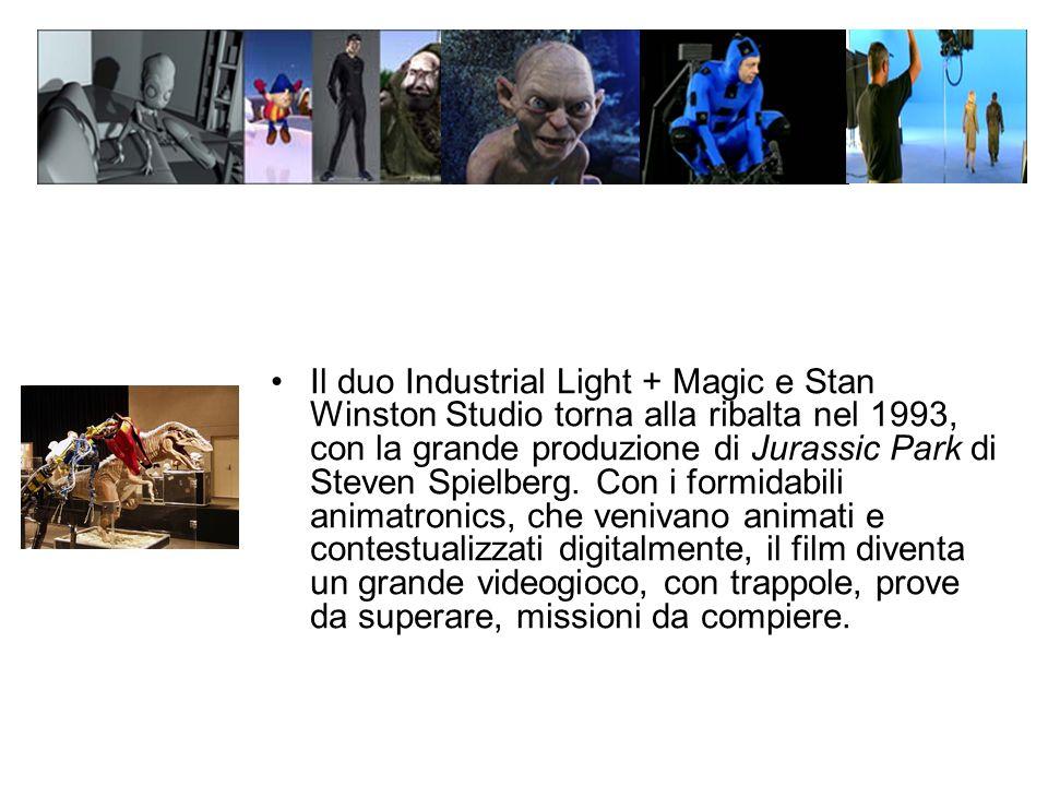 Il duo Industrial Light + Magic e Stan Winston Studio torna alla ribalta nel 1993, con la grande produzione di Jurassic Park di Steven Spielberg.