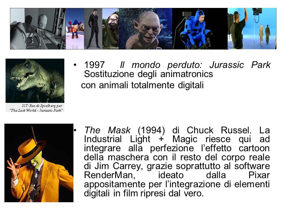 1997 Il mondo perduto: Jurassic Park Sostituzione degli animatronics