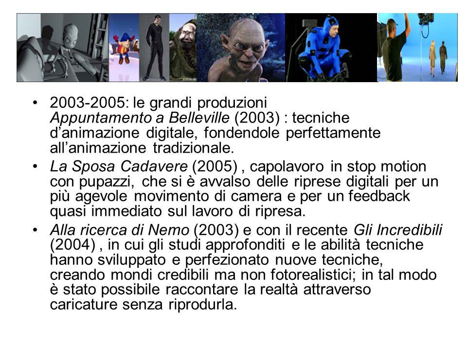 2003-2005: le grandi produzioni Appuntamento a Belleville (2003) : tecniche d'animazione digitale, fondendole perfettamente all'animazione tradizionale.
