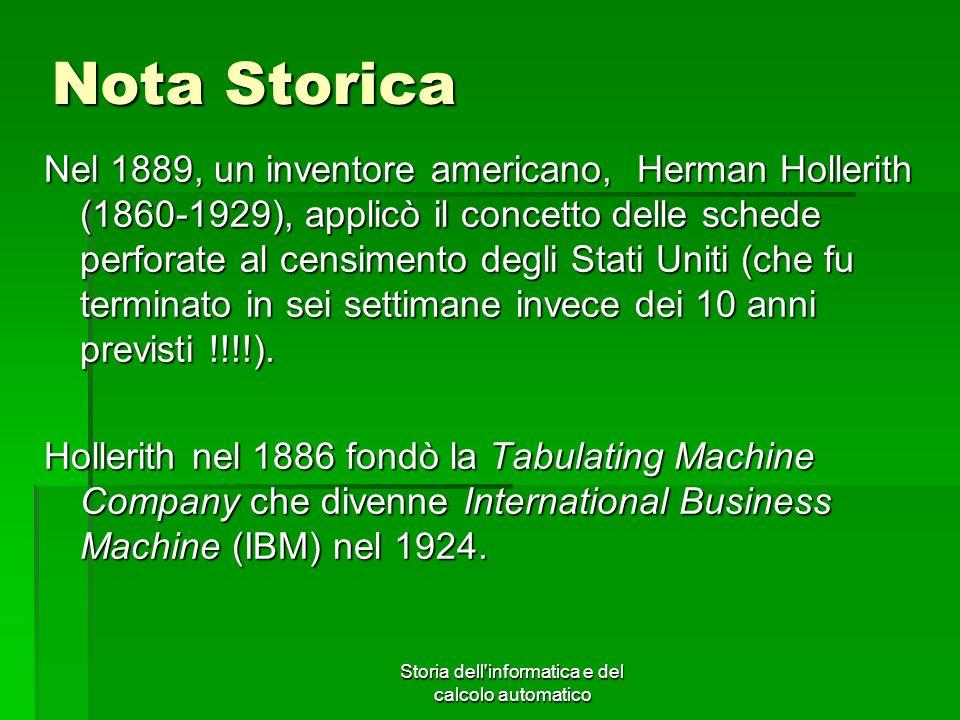 Storia dell informatica e del calcolo automatico
