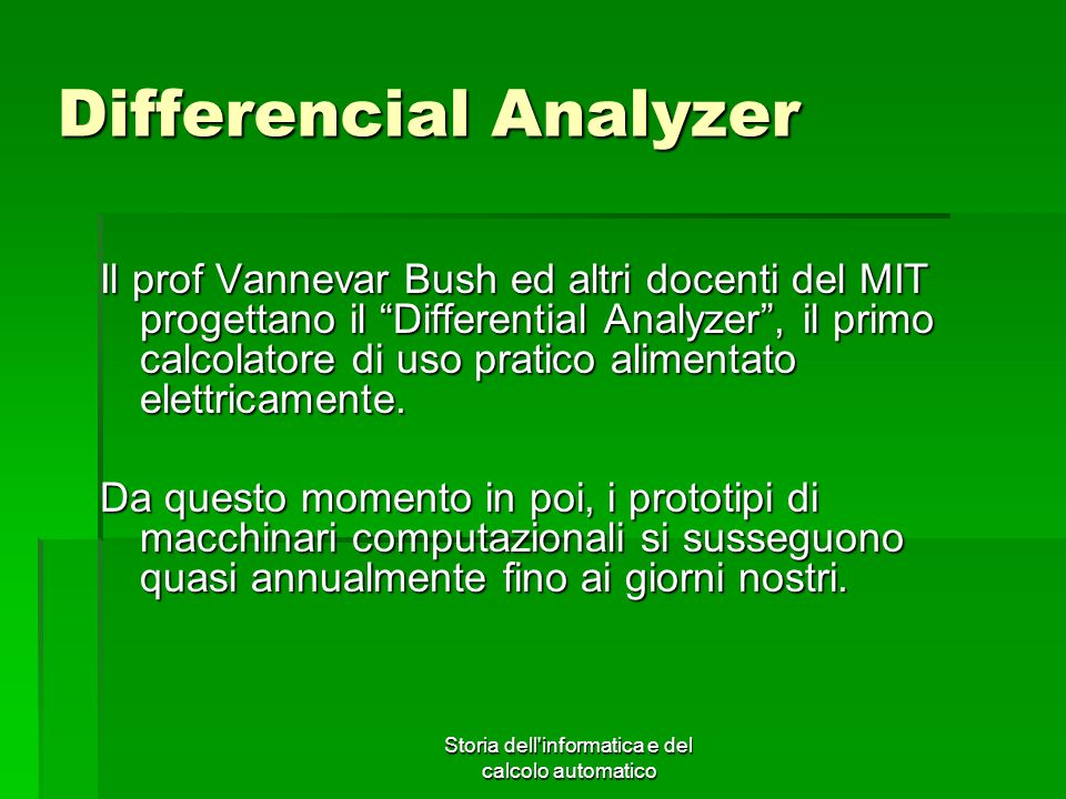 Differencial Analyzer