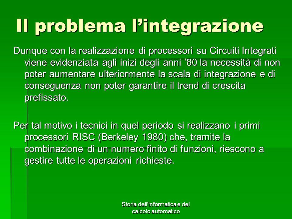 Il problema l'integrazione