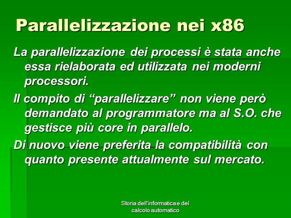 Parallelizzazione nei x86