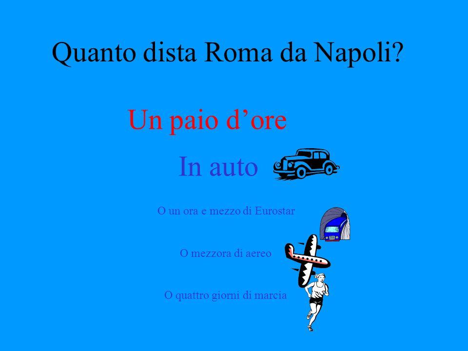 Quanto dista Roma da Napoli