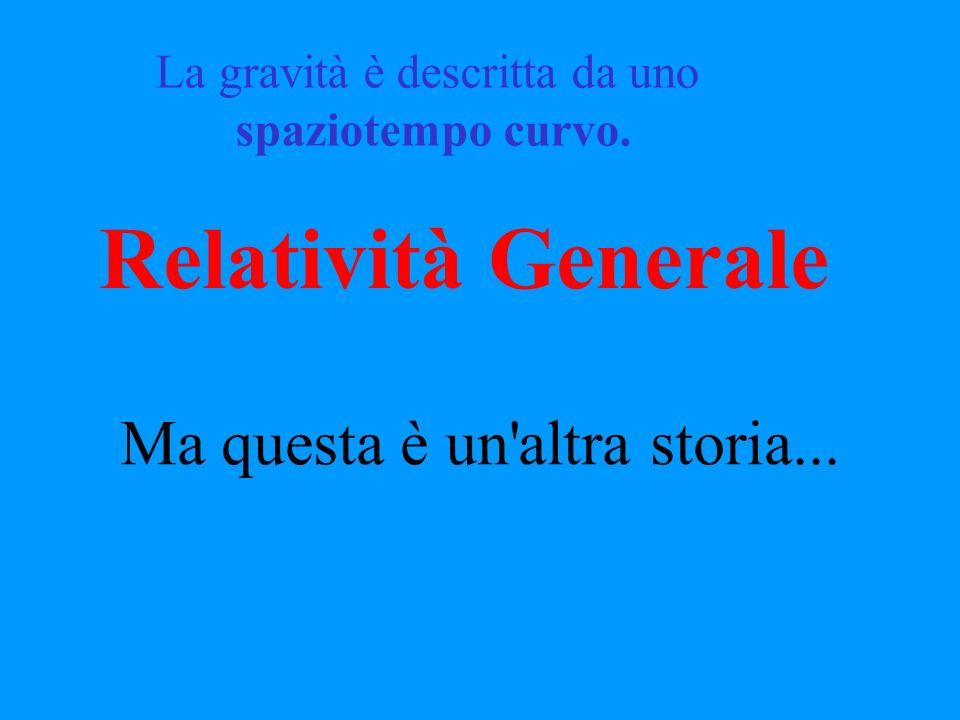 Relatività Generale Ma questa è un altra storia...
