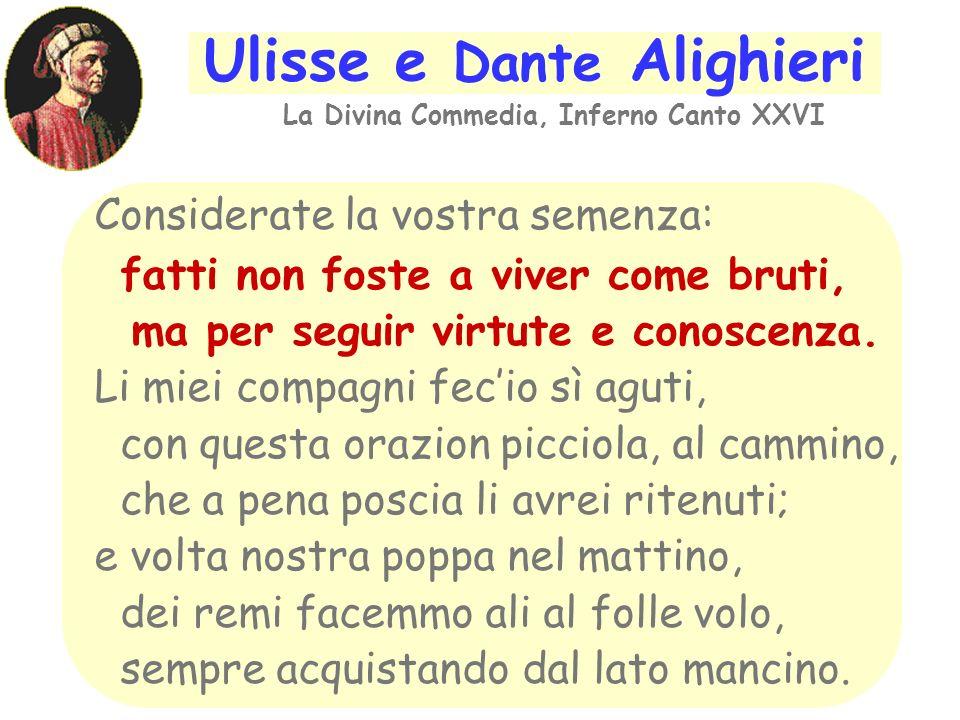 Ulisse e Dante Alighieri