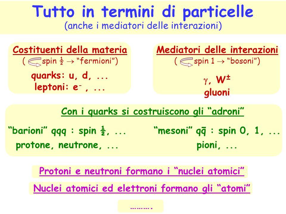 Tutto in termini di particelle (anche i mediatori delle interazioni)