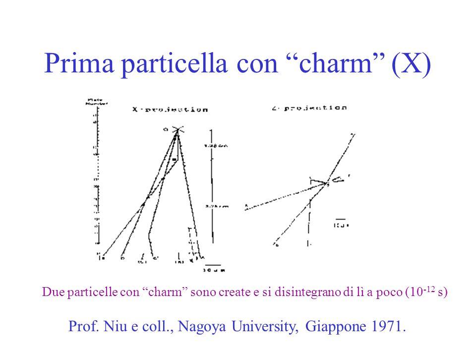 Prima particella con charm (X)