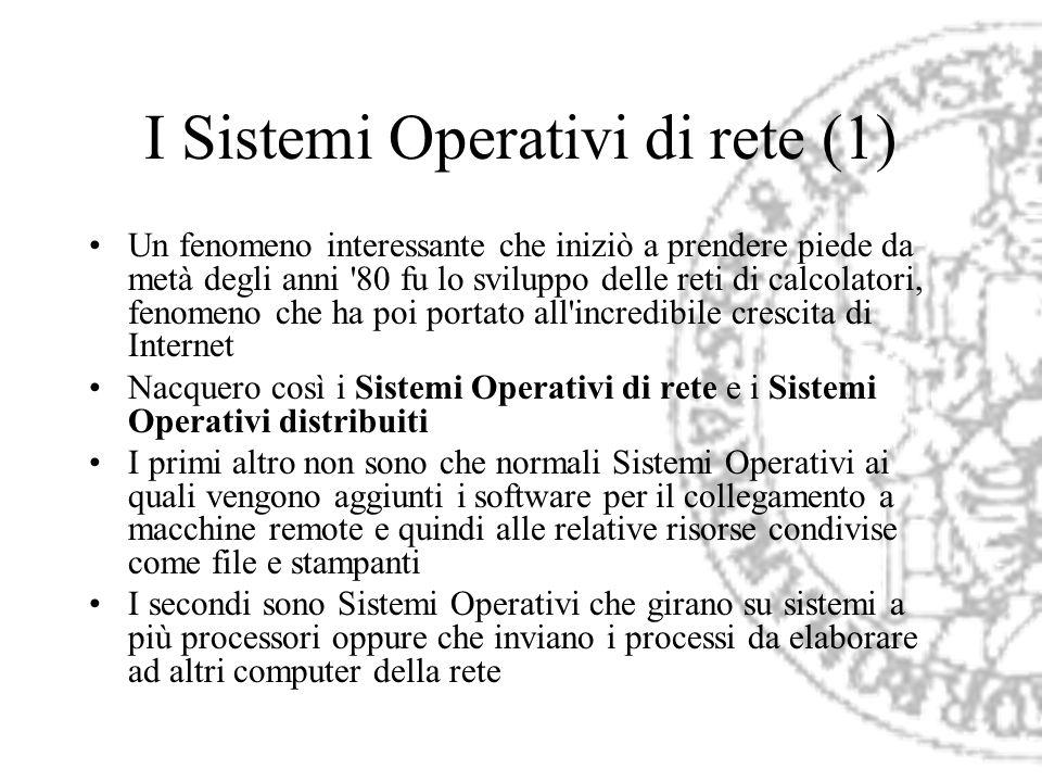 I Sistemi Operativi di rete (1)