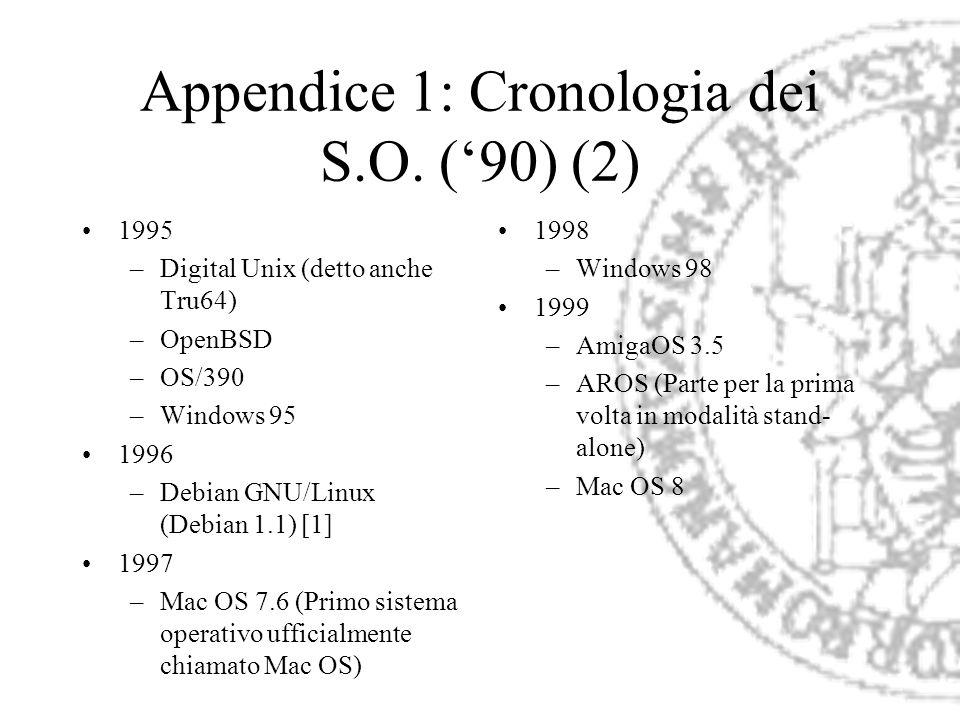 Appendice 1: Cronologia dei S.O. ('90) (2)