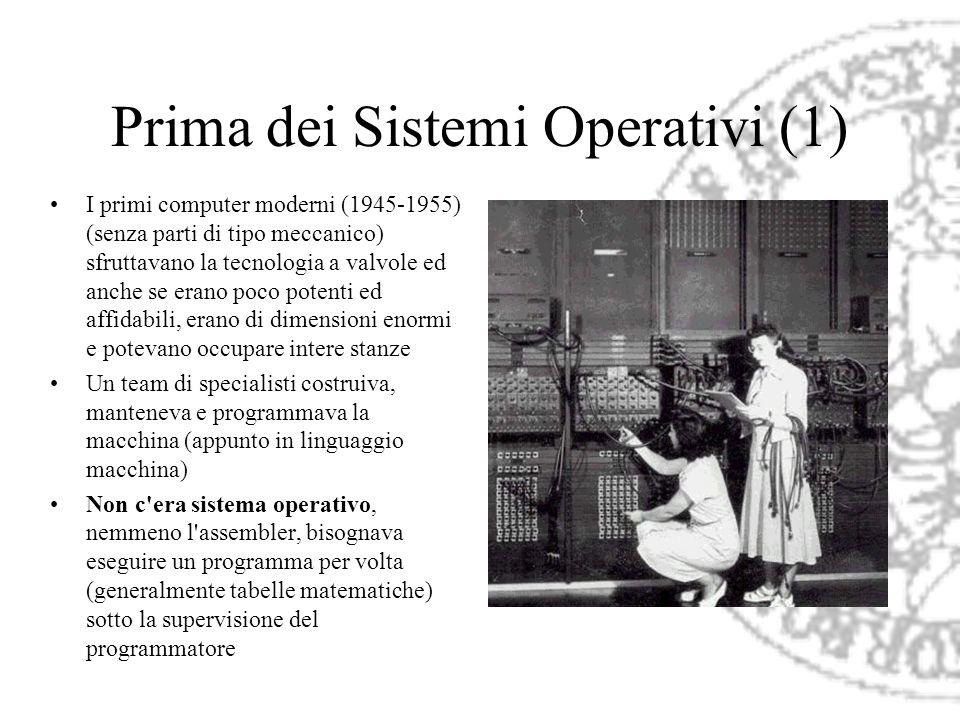 Prima dei Sistemi Operativi (1)