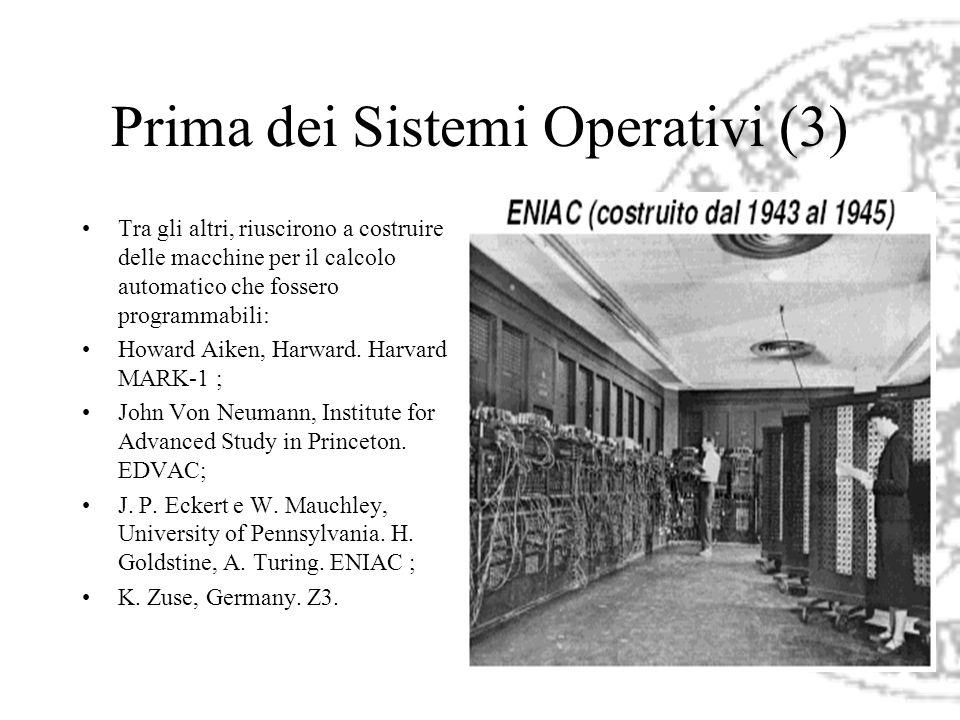 Prima dei Sistemi Operativi (3)