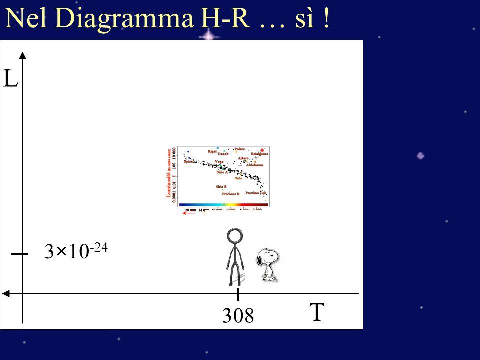 Nel Diagramma H-R … sì ! T L 3×10-24 308