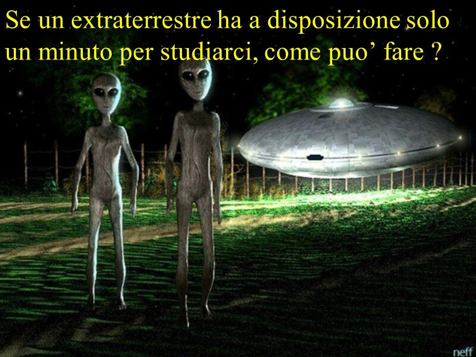 Se un extraterrestre ha a disposizione solo un minuto per studiarci, come puo' fare