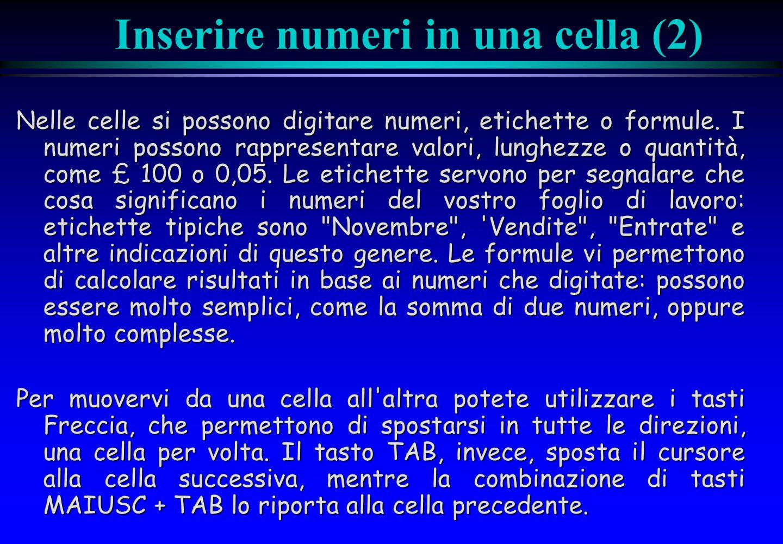 Inserire numeri in una cella (2)