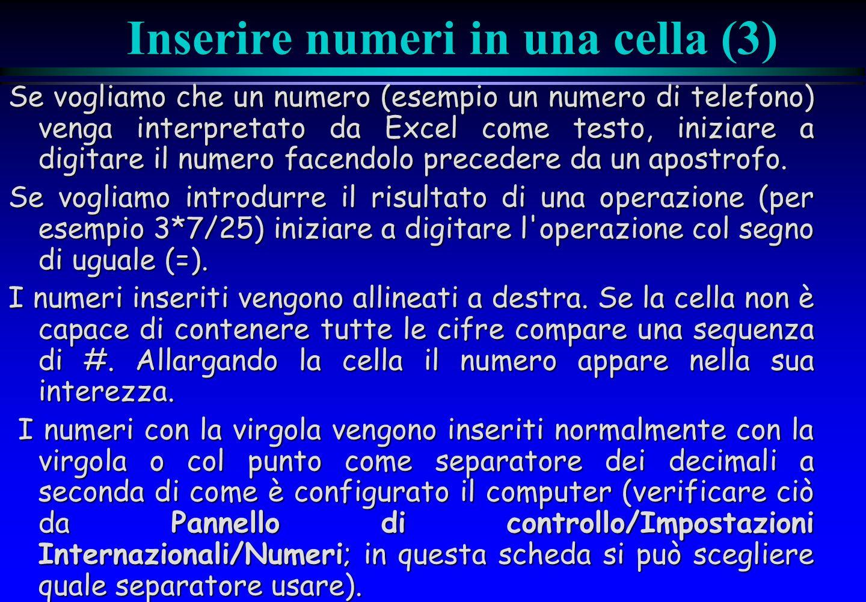 Inserire numeri in una cella (3)
