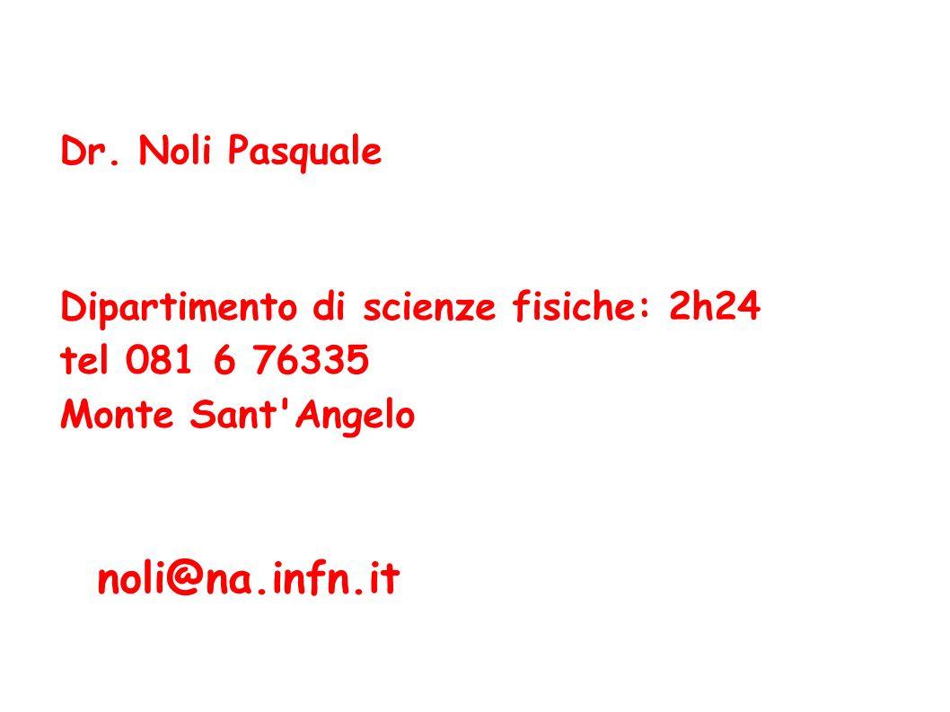 noli@na.infn.it Dr. Noli Pasquale