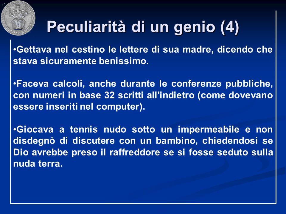 Peculiarità di un genio (4)
