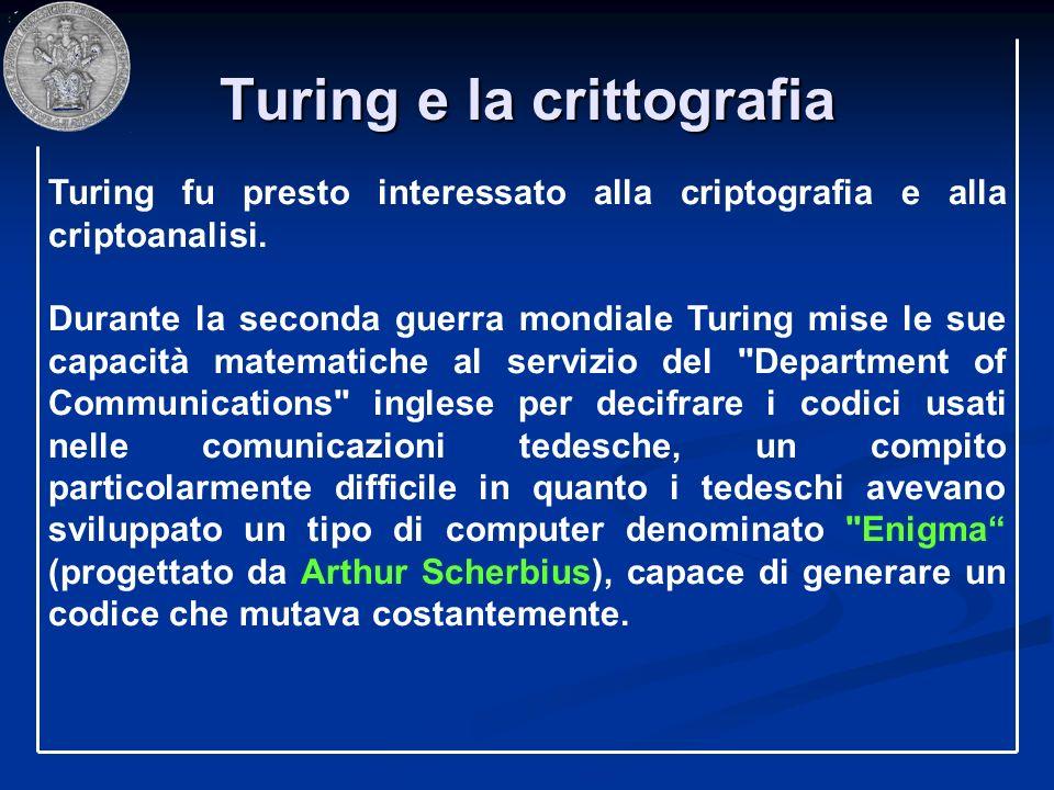 Turing e la crittografia