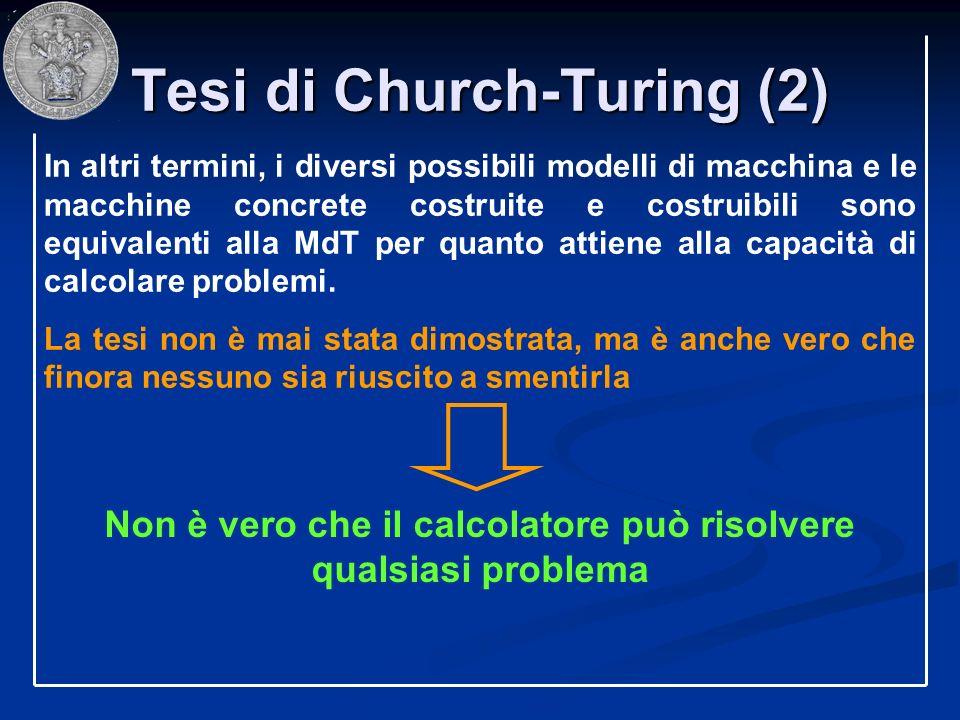 Tesi di Church-Turing (2)
