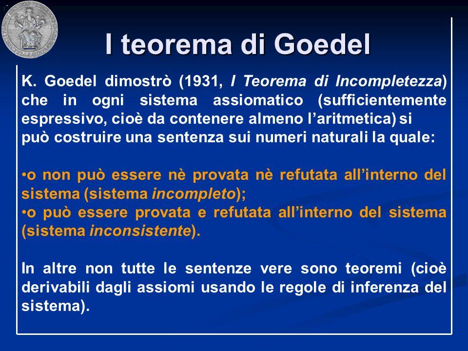 I teorema di Goedel