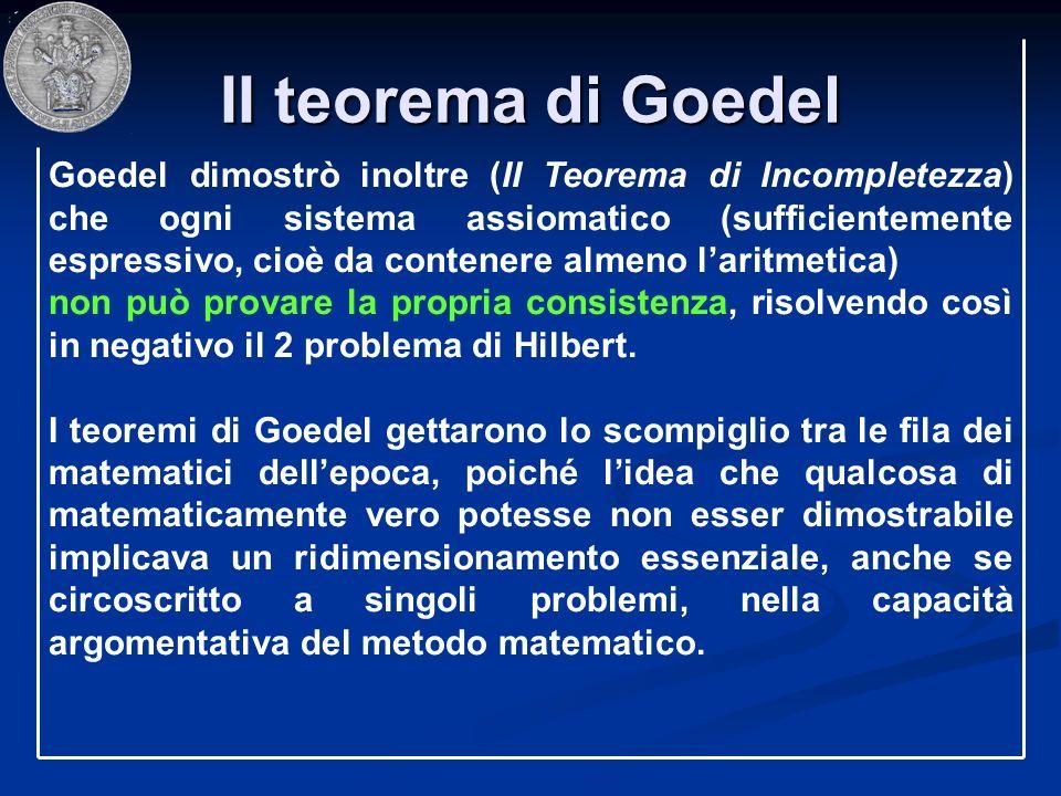 II teorema di Goedel