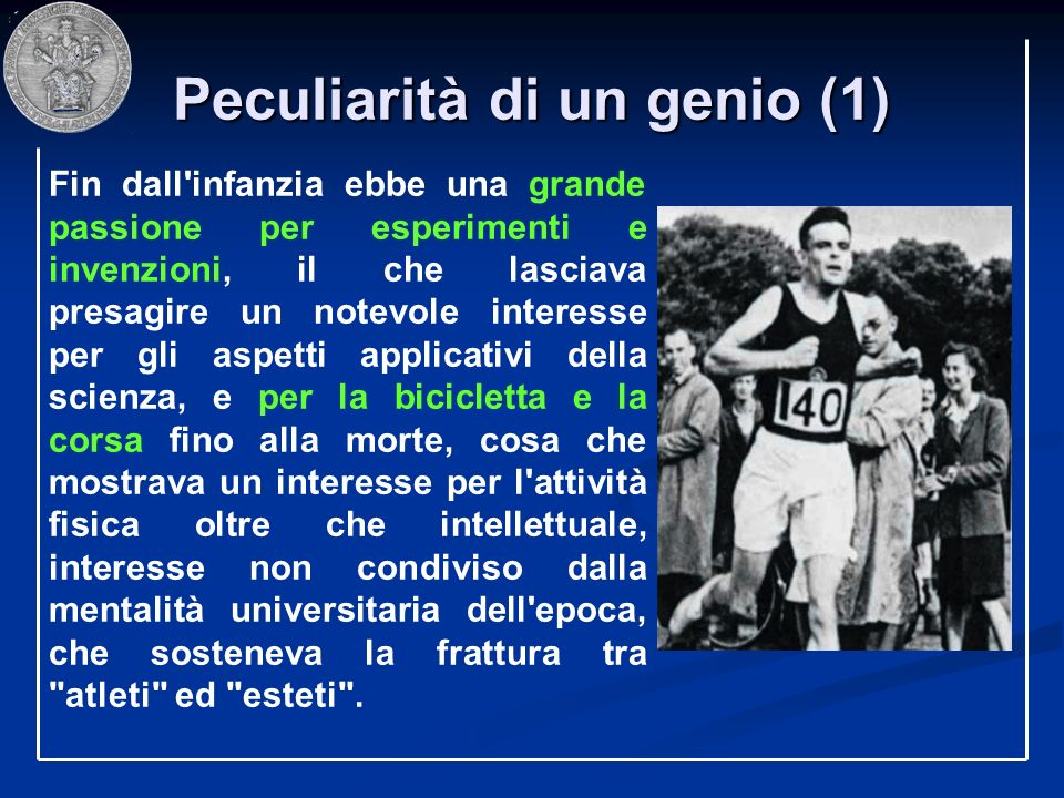 Peculiarità di un genio (1)