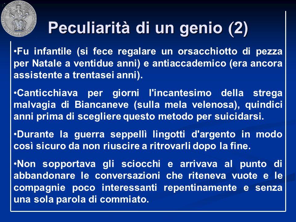 Peculiarità di un genio (2)
