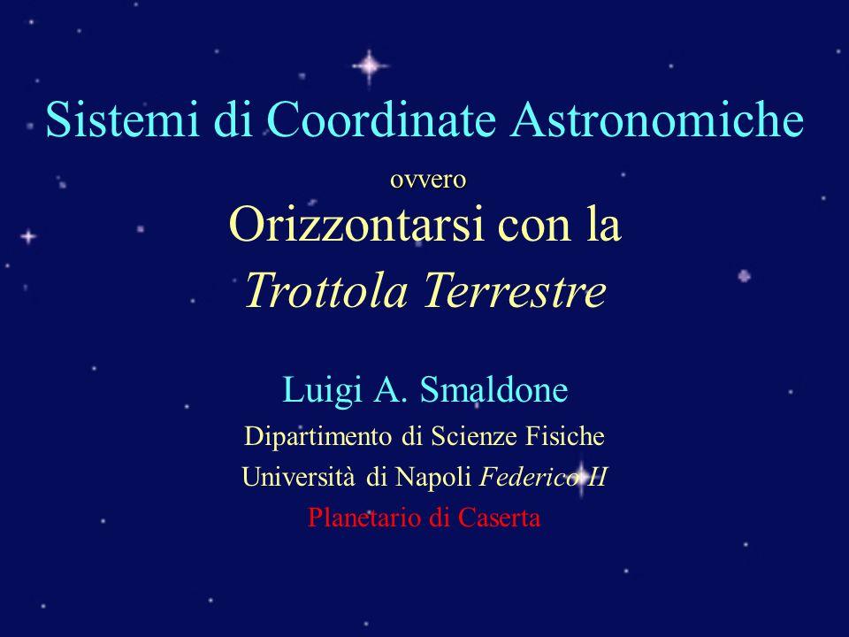 Sistemi di Coordinate Astronomiche