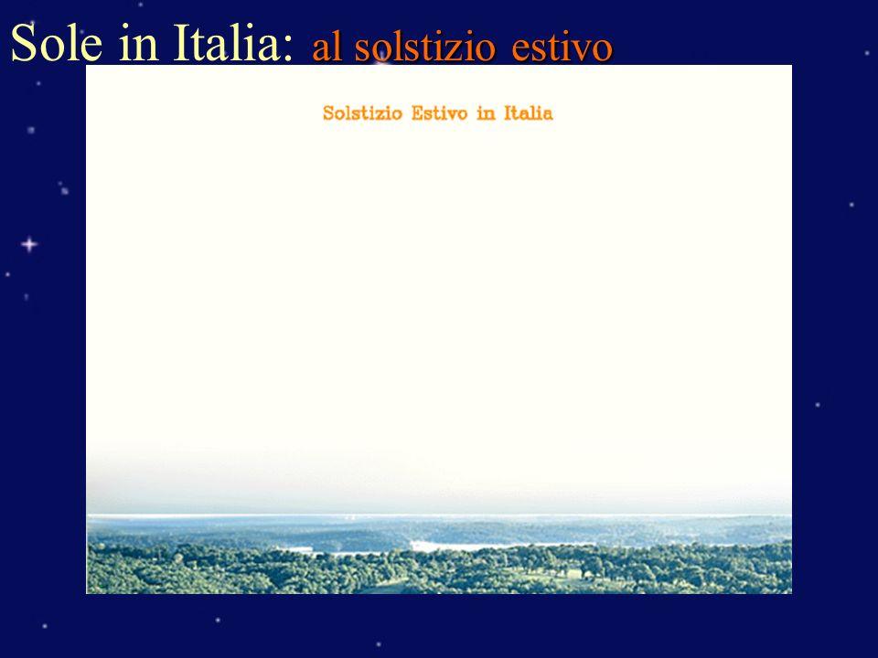 Sole in Italia: al solstizio estivo
