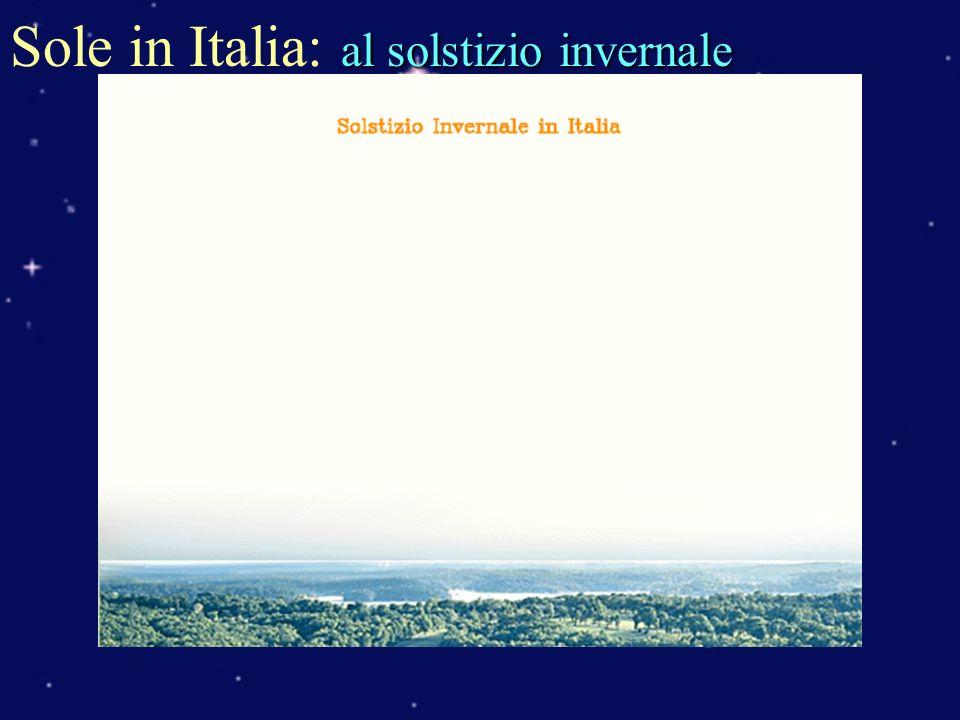 Sole in Italia: al solstizio invernale