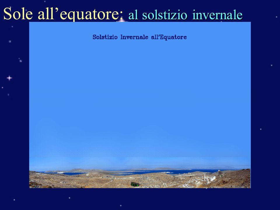 Sole all'equatore: al solstizio invernale