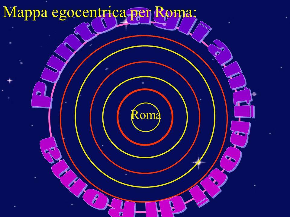 Mappa egocentrica per Roma: