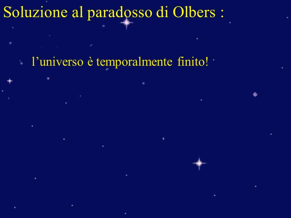 Soluzione al paradosso di Olbers :