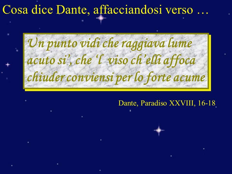 Cosa dice Dante, affacciandosi verso …