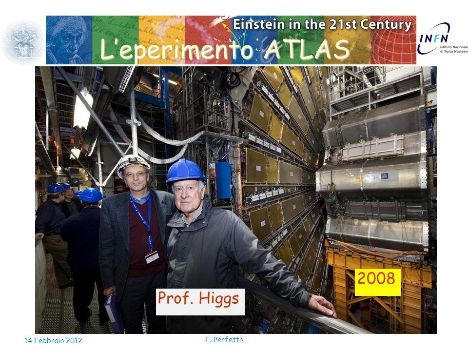 L'eperimento ATLAS 2008 Prof. Higgs 14 Febbraio 2012 F. Perfetto