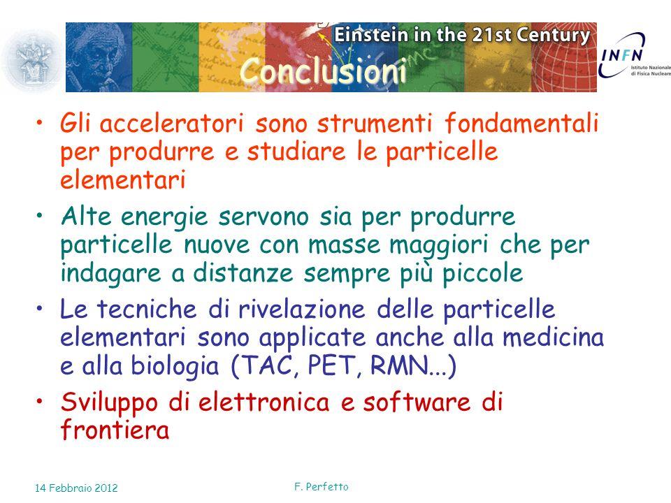 Conclusioni Gli acceleratori sono strumenti fondamentali per produrre e studiare le particelle elementari.